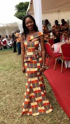 Beautiful african gown from Diyanu - Ankara Dresses, Shirts & African Prom Dresses, African Dresses For Women, African Attire, African Fashion Dresses, African Wear, African Women, African Formal Dress, Ankara Fashion, African American Fashion