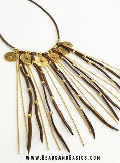 DIY gold coin necklace - ibiza fashion - jewelry - handmade - Beads & Basics