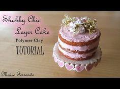 Miniature Polymer Clay Shabby Chic Layer Cake Tutorial | Maive Ferrando - YouTube