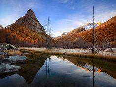 Lac des Sagnes - vallée de l'Ubaye. Alpes du Sud