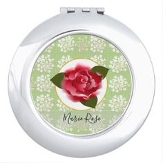 Vintage Floral Lace Rose Vanity Mirror  $16.85  by AsilDesigns  - cyo diy customize personalize unique