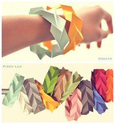 Would you ever guess that these bracelets were folded out of paper?