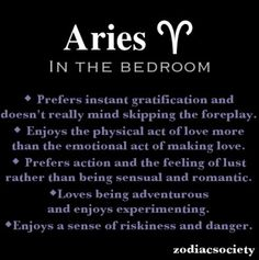 Aries women in bed