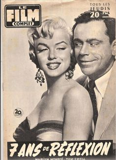 """Le Film Complet - May 1956, magazine from France. Front cover publicity photo of Marilyn Monroe and Tom Ewell for """"The Seven Year Itch"""", 1955."""