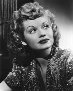 """Lucille Ball ~ Best remembered for her roles as the title characters in each of her 3 series: """"I Love Lucy"""", """"The Lucy Show"""" and """"Here's Lucy"""". Lucille Ball, I Love Lucy, Zooey Deschanel, Old Hollywood Glamour, Vintage Hollywood, Hollywood Stars, Classic Hollywood, Vintage Glamour, Hollywood Hair"""