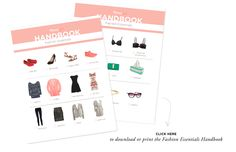 Fashion Essentials: 21 items to get you through your twenties via The Everygirl // DOWNLOAD OR PRINT THE HANDBOOK