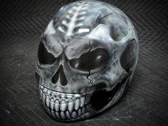 Skull Motorcycle Helmet | Skull Motorcycle Helmet II - Custom Painted Motorcycle Helmet