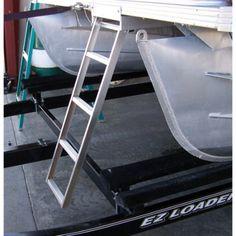 Under Deck Pontoon Boat Ladder For Flat Front Decks - Overton's