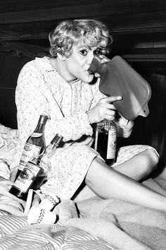 Jack Lemmon in Some Like it Hot, 1959.    We had a screening of this at my school awhile back, with Donald Petrie (director of Grumpy Old Men). Sadly, this joke was totally lost on about 80% of the students in attendance.