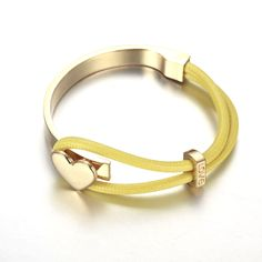 18k gold bracelet yellow and gold color