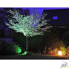 Gartenbeleuchtungsset groß - Leuchten ROTOBALL OUT und LED OUTDOOR BEAM, inkl. Gartensteckdose, Erdspieß und Leuchtmittel