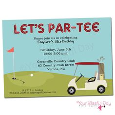 PRINTABLE Golf Party Invitation by yourblissfulday on Etsy