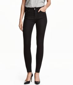 Check this out! 5-pocket jeans in washed stretch denim. Ultra-slim legs and regular waist. - Visit hm.com to see more.