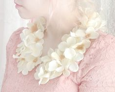 handmade floral collar via Sweet and Lovely