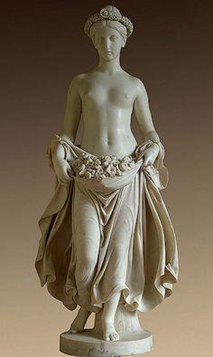 Flora - 1840. Pietro Tenerani (1789-1869), italian sculptor, in The State Hermitage Museum, St. Petersburg, Russia