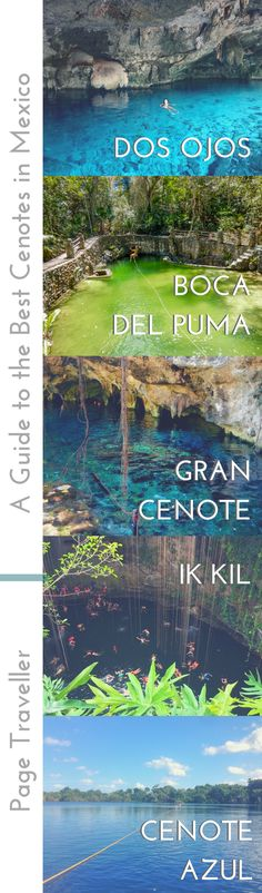 One essential thing to do when visiting Cancun, Tulum, Playa del Carmen, Chichen Itza, or pretty much anywhere in the Yucatan region of Mexico, is to go cenote diving. Therefore, I've asked the travel bloggersphere for their recommendations on the best cenotes in Mexico, from the Gran Cenote in Tulum to the Ruta de los Cenotes along the Riviera Maya. #cenotes #mexico #yucatan #cancun #tulum #playadelcarmen #rivieramaya #cenote #travel #travelblogger #chichenitza #travelblog #bacalar #diving