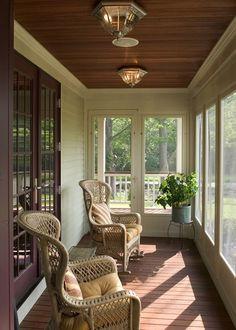 cosy screened verandah