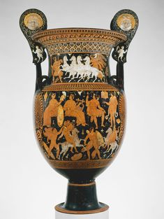 Terracotta volute-krater (vase for mixing wine and water)  Attributed to the…