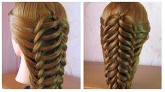 ★ Tuto coiffure simple cheveux long ★ Coiffure tresse facile a faire soi...