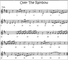 Over The Rainbow Melody for Violin