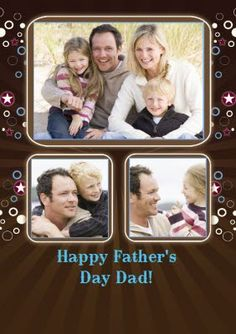 Brown Circles might not sound like a great design for a greeting card, but we love the look on this Father's Day Photo Upload card Happy Fathers Day Dad, Fathers Day Photo, Photo Upload, Circles, Card Making, Dads, Greeting Cards, Invitations, Messages