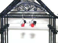 Rockabilly Chic Dice Earrings in Red White and by ACharmingTime, $6.95