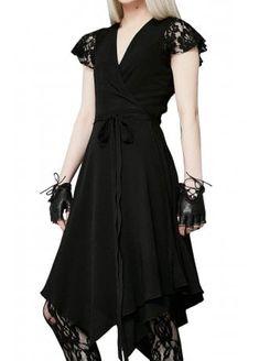 Like Tears In Rain Gothic Wrap Dress