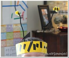 Bee headband! (click for other great bee ideas like beekeeper puppet)