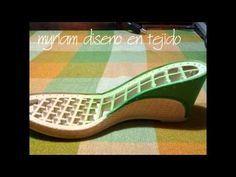 Tejido de zapato a crochet video 4 - YouTube