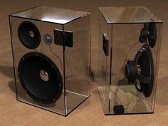 Speaker van plexiglas maken.