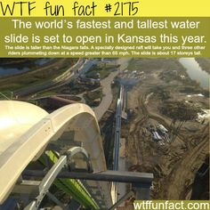 Tallest and fastest water slide -WTF fun facts: Nope just NOPE!