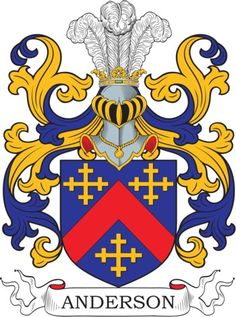Anderson Family Crest and Coat of Arms