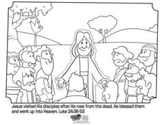 Kids coloring page from Whats in the Bible showing Jesus on the