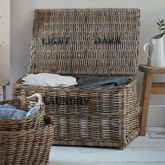 all things Brighton beautiful Darks And Lights Rattan Laundry Chest