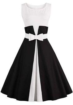 Color Block Pin Up Dress
