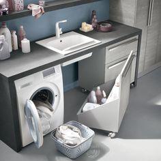 Mobile lavanderia con ruote N30 - Atlantic - ARREDACLICK