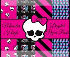 Monster High 1 Digital Printable Paper Pack