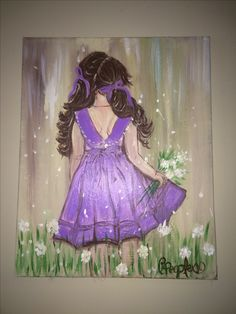 """Daydream"" Cynthia Peeples art  Local art, paintings,  girl art, girly things, little girl, pretty things, rustic art"