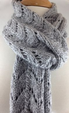 Hand knit Scarf Extra Long Ladies Elegant by JazzitUpwithDesigns, $45.00
