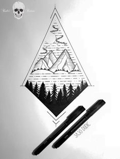 Image result for mountain sketch tattoo