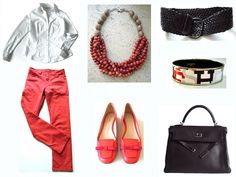 MaiTai's Picture Book: Capsule wardrobe #103 - coral and white