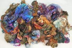 Suri Alpaka locks hand painted fiber fleece for by WoolShepherdess