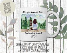 Custom All You Need is Love and a Dog Mug | Perfect gift for Dog Mom | Dog lover gift Dog Lover Gifts, Dog Gifts, Dog Lovers, Dog Background, Customised Mugs, Pet Names, Love Photos, All You Need Is Love, Dog Mom