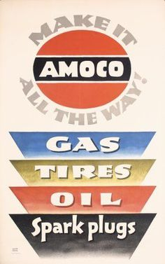 Amoco automotive ~ Lucian Bernhard