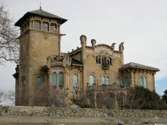 Villa Zanelli. Savona, Italy. Built in 1907 and then sold to the municipality of Milan, which transformed it into camp and international colony, then during WWII as a field hospital. It is currently in a state of decay.