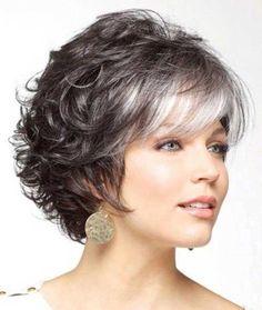 Corte en cabello gris