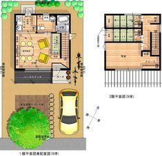 最小限住宅「9坪ハウス」-ローコスト住宅ドットコム House Layouts, House Floor Plans, Planer, Tiny House, Architecture Design, House Design, Flooring, How To Plan, Interior