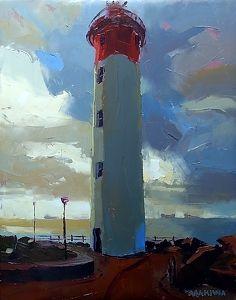 The Lighthouse by makiwa mutomba  ~ 56cm x 71cm