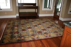 """""""Vineyard"""" Arts & Crafts Movement rug design by C.F.A. Voysey, in our authentic period palette which coordinates beautifully with both antique and reproduction furniture, textiles, and wall coverings. All Guildcraft Carpets are hand-knotted by adult artisans and certified child-labor-free by Goodweave."""