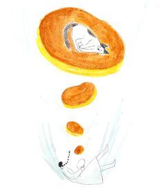 食器と食パンとペン